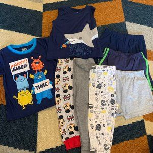 Toddler Assorted Items Lot Pajamas Size 24M/2T